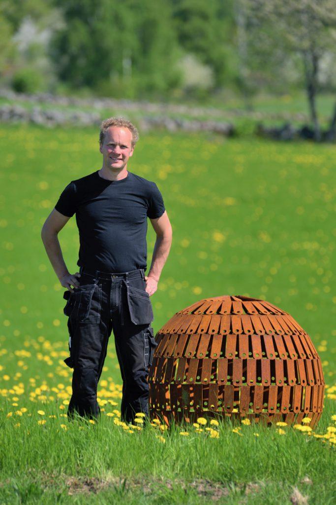 Geert van der Vossen med klot i metal
